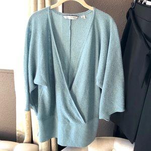 Avenue blue wrap sweater